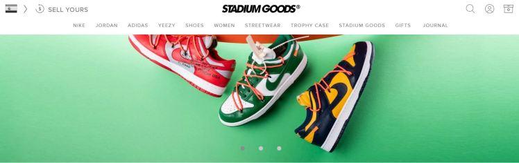 Stadium Goods website