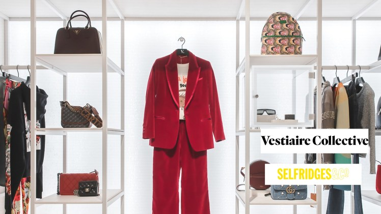 Secondhand sustainable fashion Vestiaire Collective Selfridges London collaboration