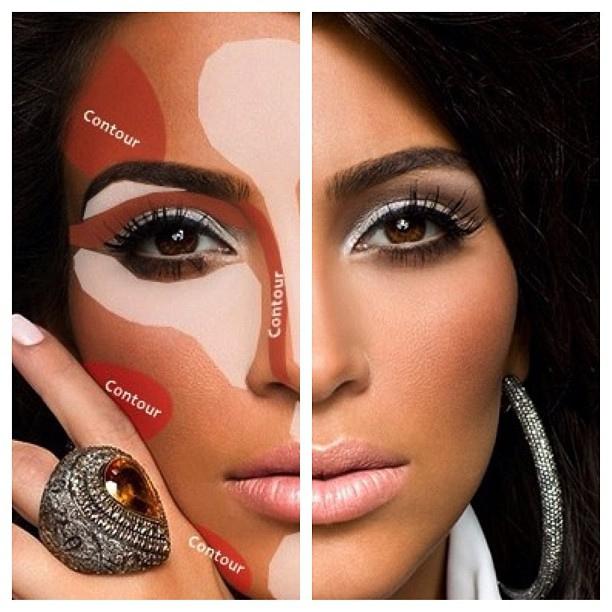 Kim Kardashian Makeup Contouring