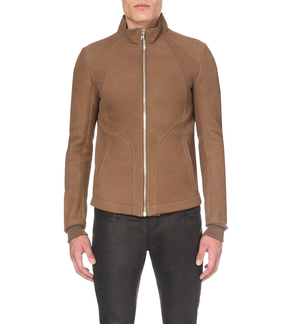 Rick Owens Leather Blend Jacket