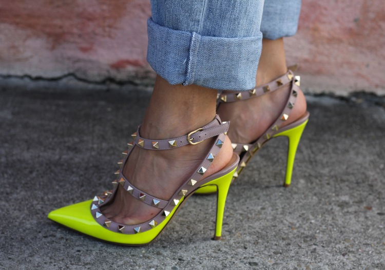 Valentino-Rockstud-Shoes-Yellow