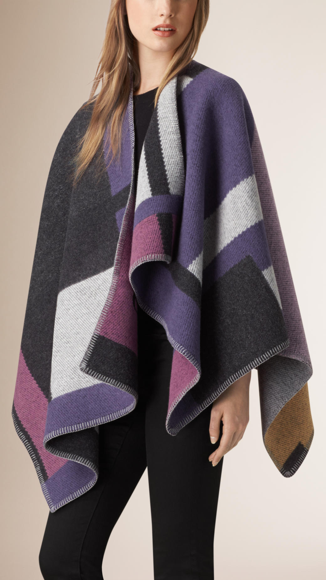 burberry-mauve-pink-purple-cape-blanket-poncho