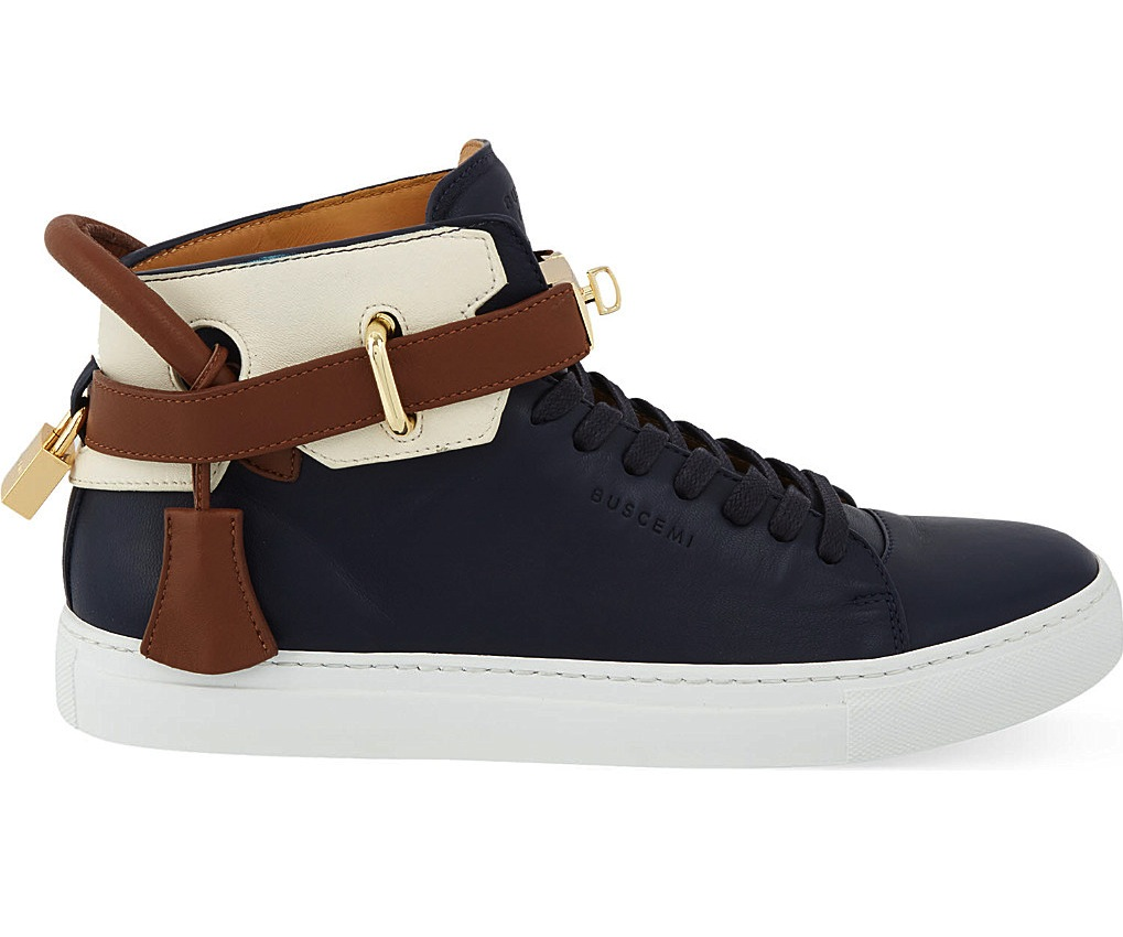 Buscemi 100mm Tri Colour High Top Sneakers