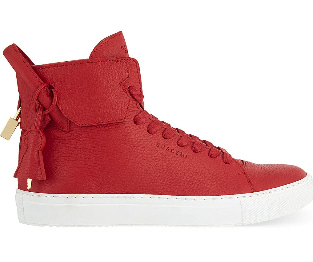 Buscemi 125mm Padlock Red High Top Sneakers