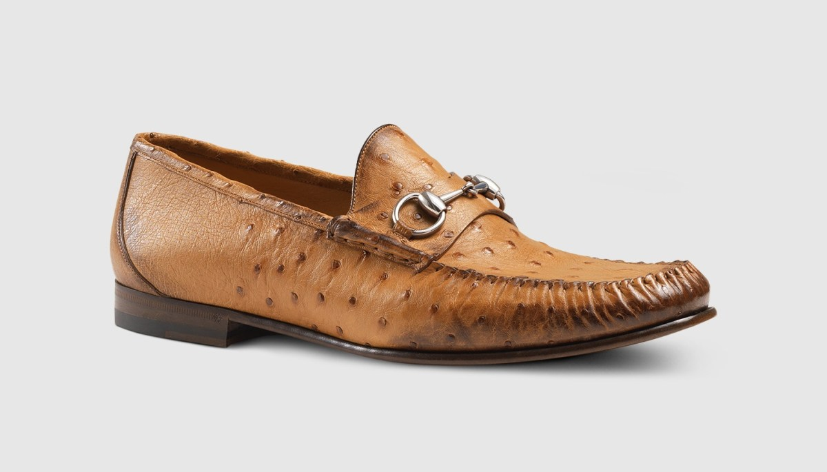 Ostrich Horsebit Loafer