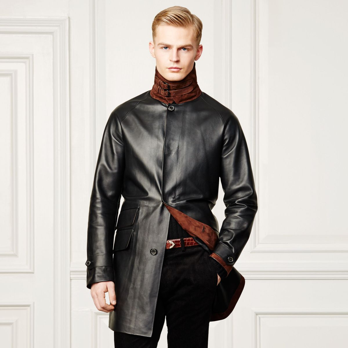 Rochford Bonded Leather Coat