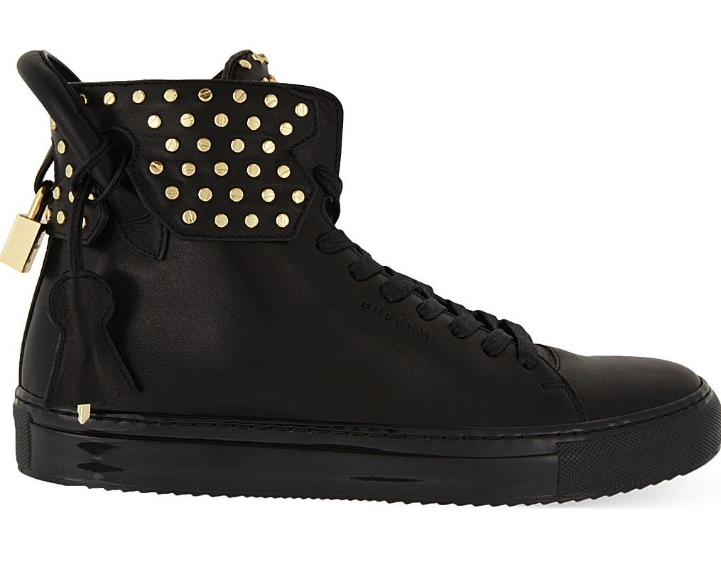 Buscemi Screw Leather Hightop