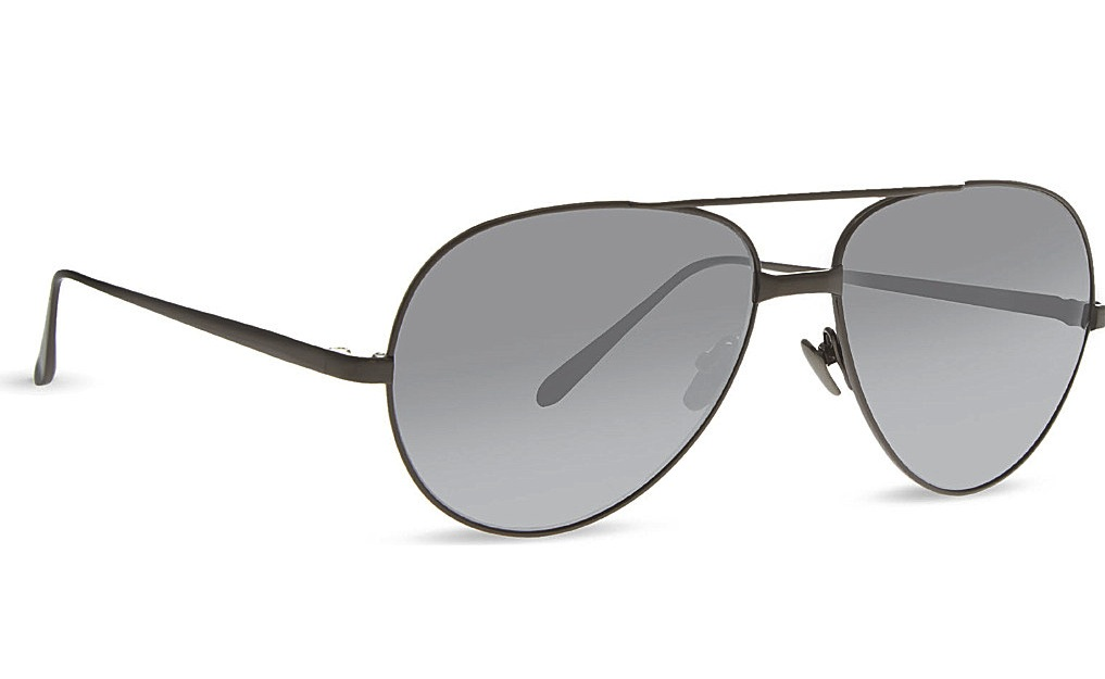 Linda Farrow IF128 Classic Mirrored Aviator Sunglasses