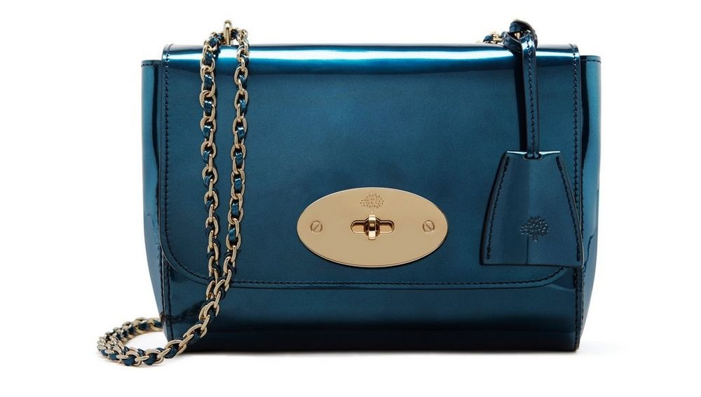 Mulberry Mirror Metallic Leather Lily in Blue