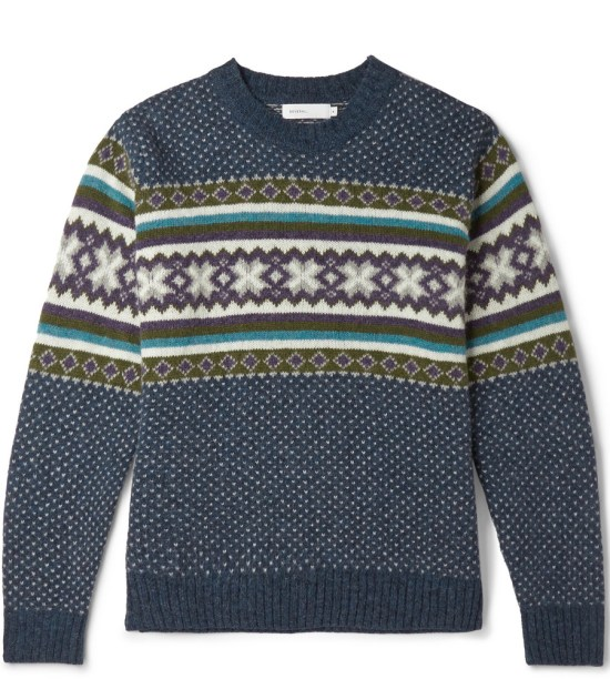 Several Fair Isle Wool Sweater