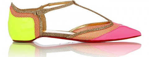 christian louboutin mrs early t strap flats