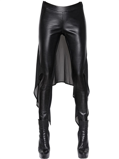 gareth-pugh-leather-chiffon-pants