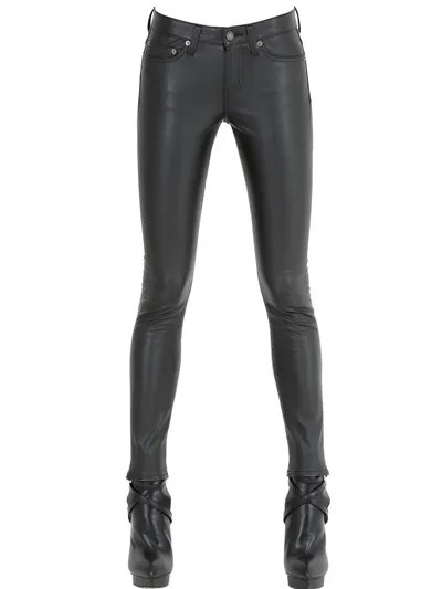 saint-laurent-skinny-faux-leather-trousers
