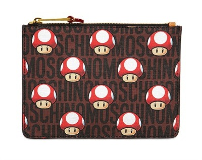 Super Moschino x Nintendo Super Mario Collection mushroom clutch