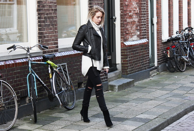 How To Style A Women's Leather Jacket In Winter | Fashion Runway