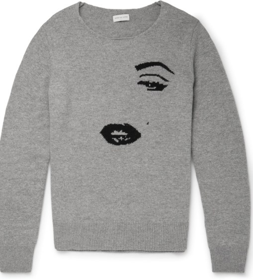 Dries Van Noten Jenci Cashmere And Wool Blend Sweater