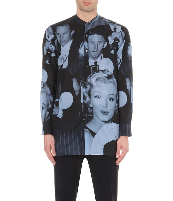 Dries Van Noten Marilyn Monroe Print Cotton Shirt