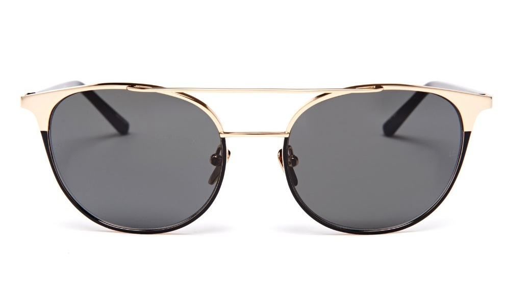 Linda Farrow Acetate And Gold Plated Aviators
