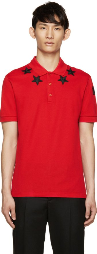 givenchy_red_black_star_polo