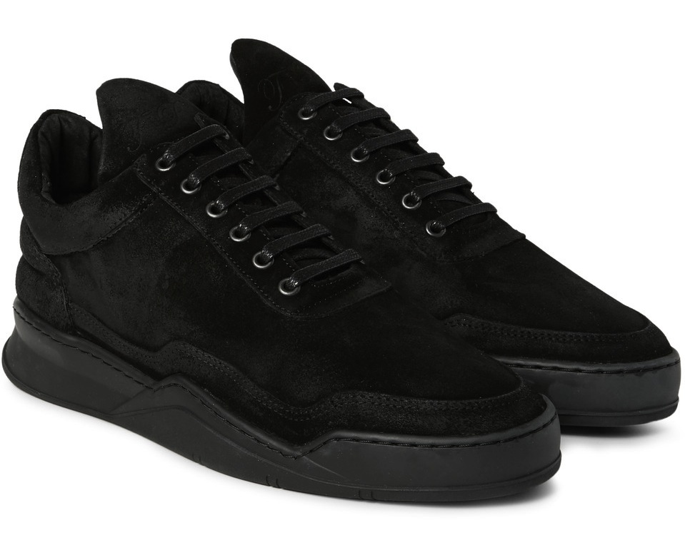 Filling Pieces Ghost Waxed Nubuck Sneakers