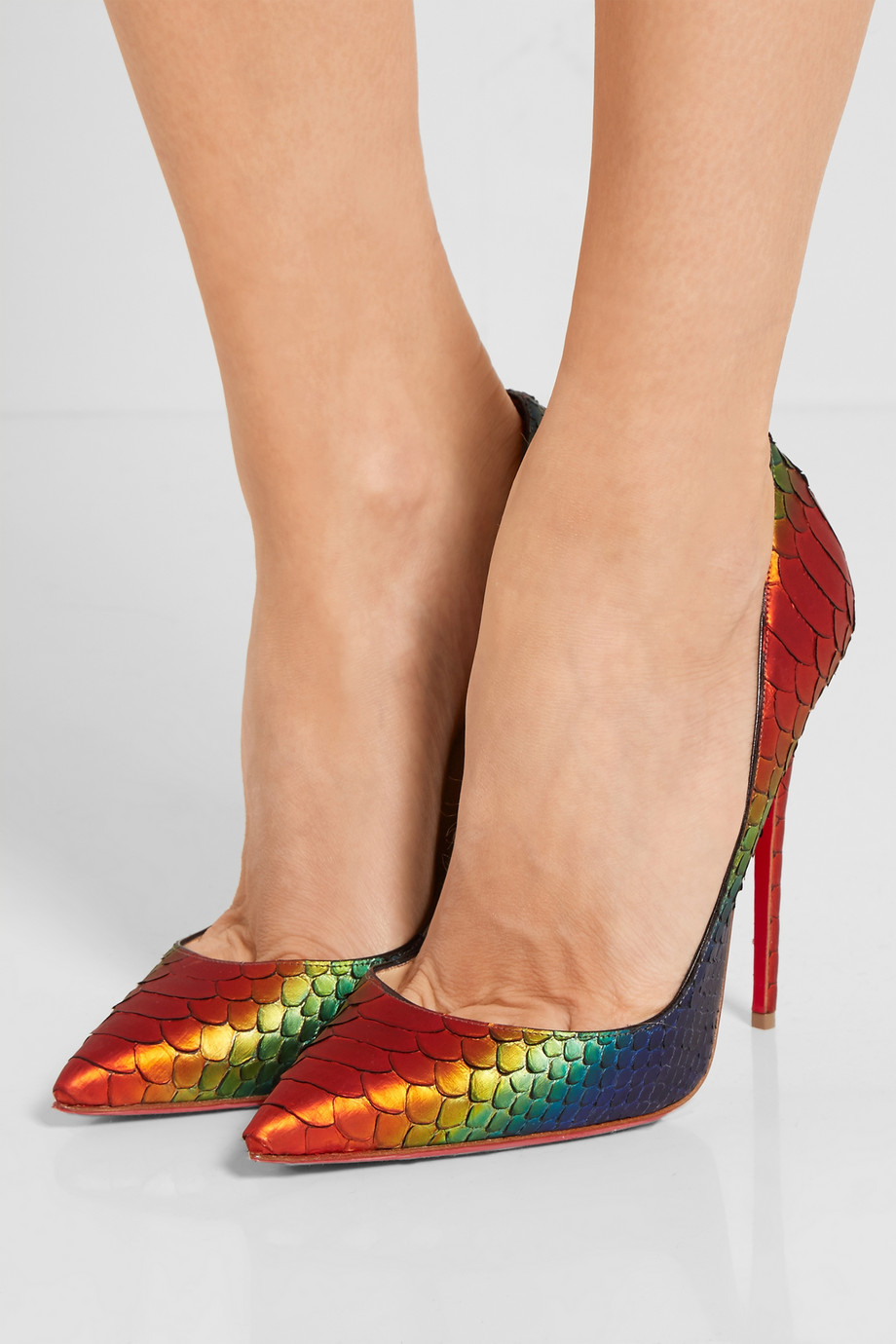 Christian Louboutin Rainbow Python So Kate 120 Pumps 3