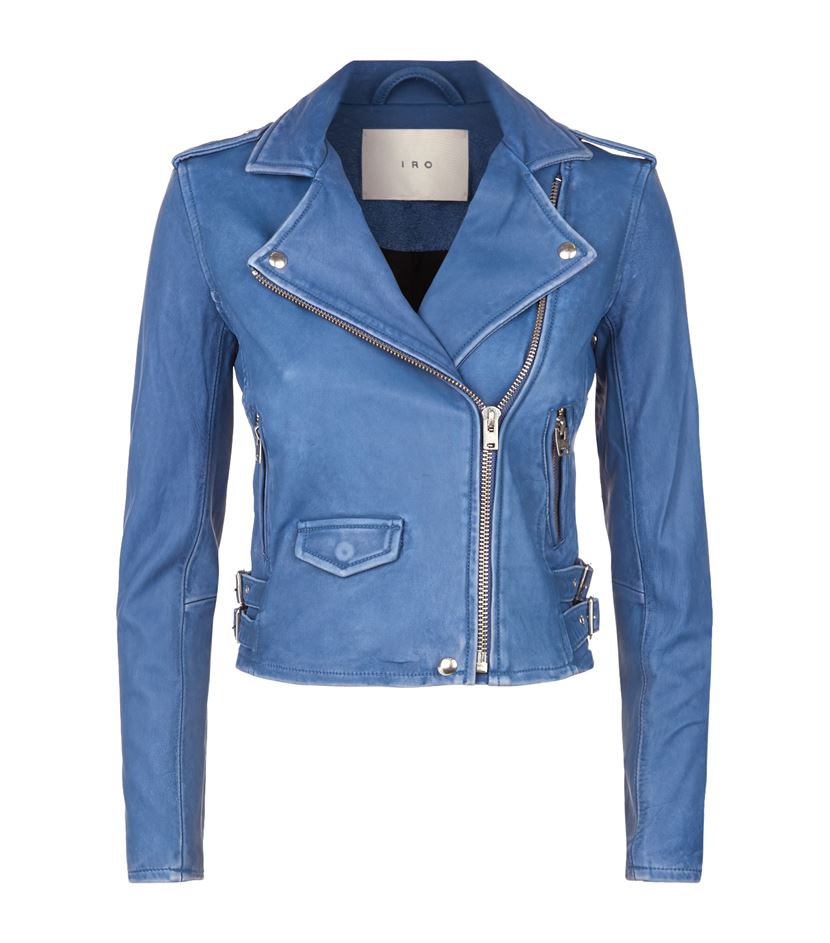 iro leather jacket blue