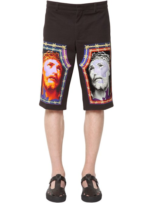 givenchy_jesus_print_cotton_denim_bermuda_shorts