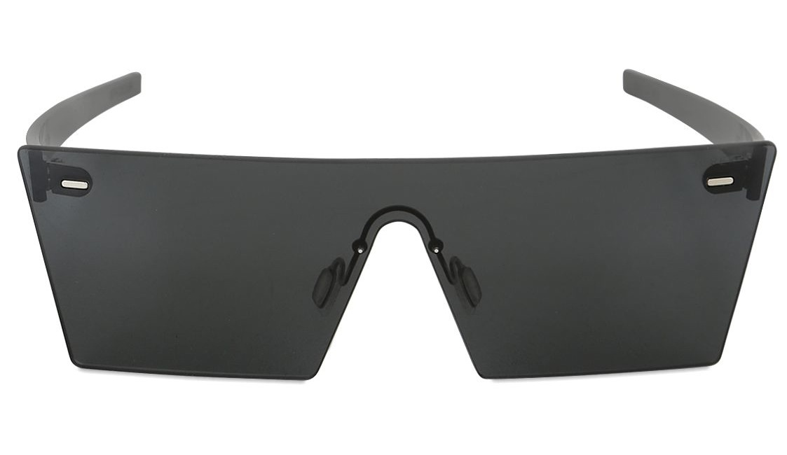 Super Squared Acetate Black Sunglasses