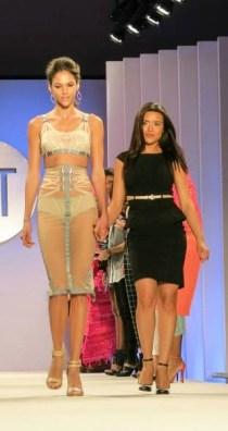Danielle with her Critic Award winning garment.