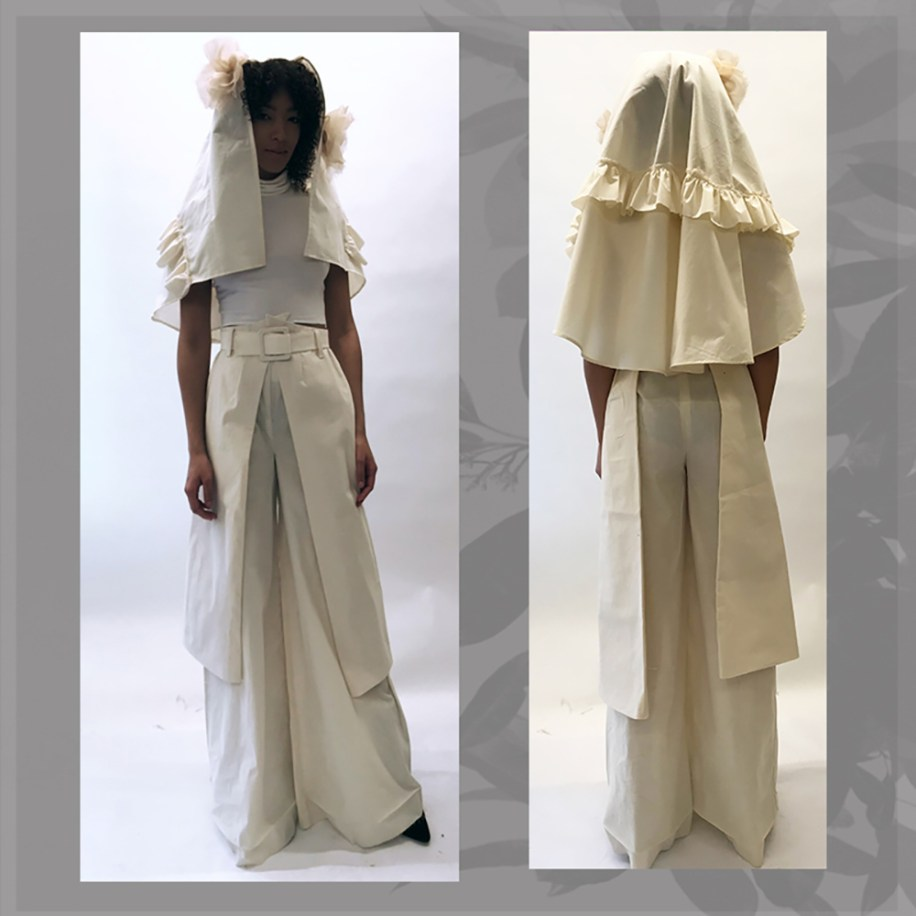 Muslin Toile, Front, and Back View