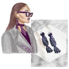 and-woven macrame earrings