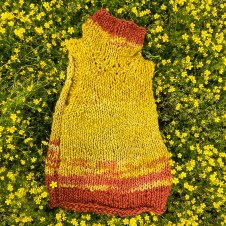 Hand Spun, Dyed, Knit Wool Sweater