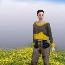 3D model of Purl Knit Virginia Cotton and Wool Sweater