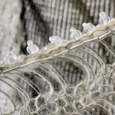 Opal glass beading detail.