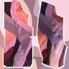 Process of silk fabric appliqué