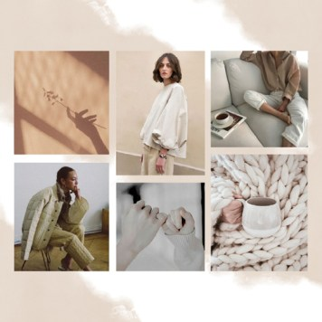 Mood Page: Collection is inspired by bringing the comfort and security of home into clothing for the everyday.