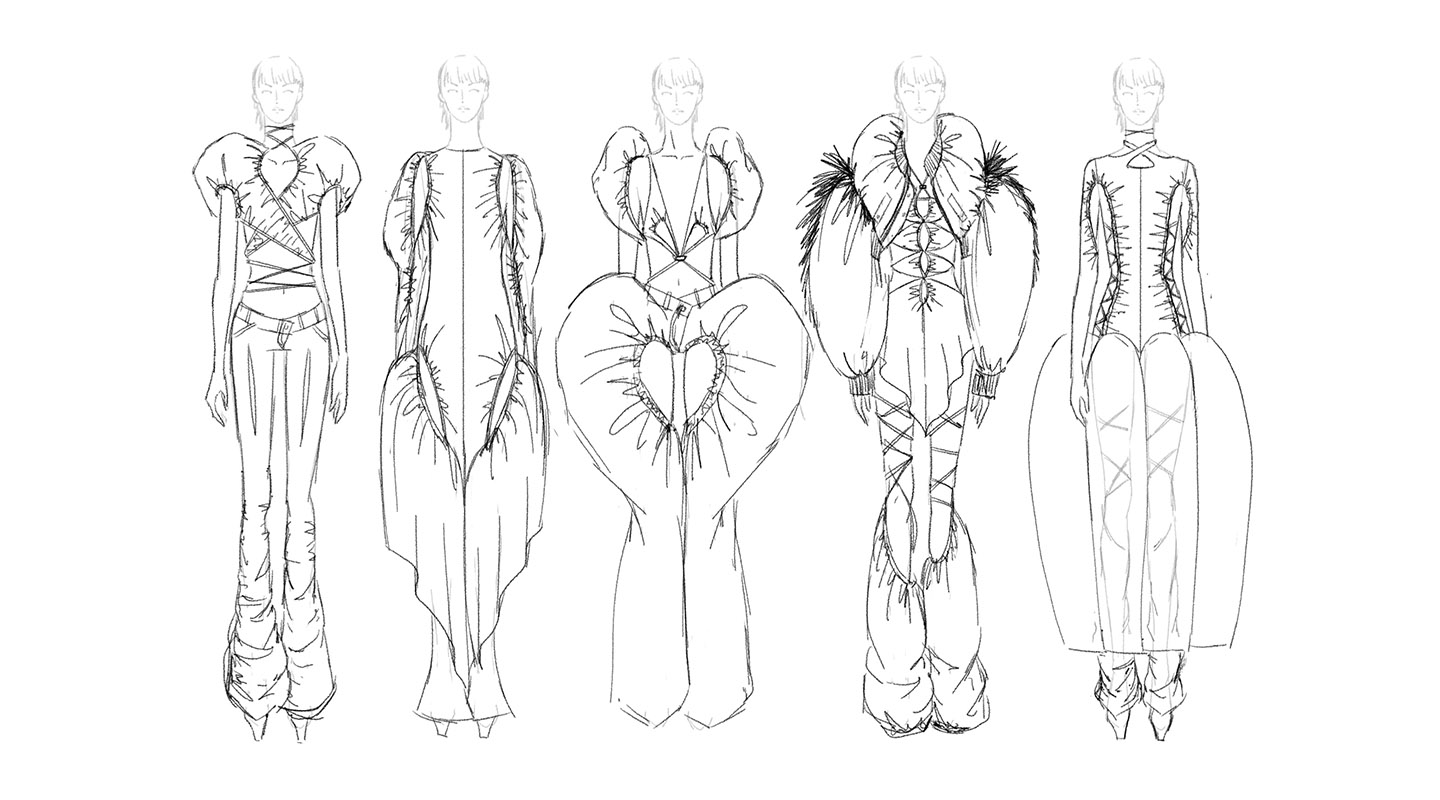 Sketches of Garment