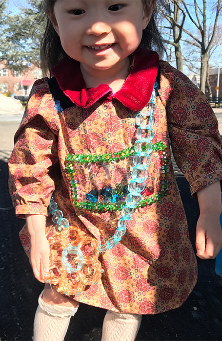 Gems and beaded bag are shining under the sunlight