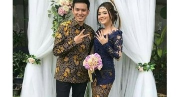 Model Kebaya Modern Blouse Brokat Navy