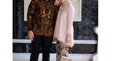 Model Baju Kebaya Couple Panjang Soft Peach