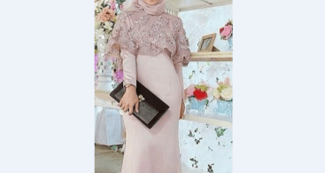 Model Kebaya Modern Cape Soft Pink