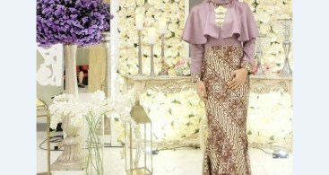 Model Kebaya Modern Blouse Maroon