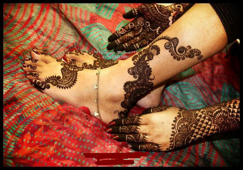Arabic Foot Mehndi Design collection 2013