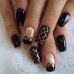 Fall 2013 Beautiful Black Style Nails Design Collection (3)