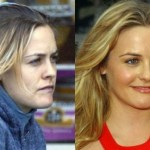 Alicia Silverstone with make and without makeup