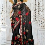Indian Latest Black Saree Collection 2013-14 for Women (5)