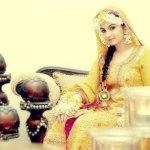 Bridal Mehndi Wedding Waleema Multi Colored Dresses 2014 (7)