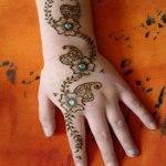 Fresh indian mehndi style