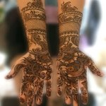 peacock and floral patterns Indian Mehndi Henna Designs