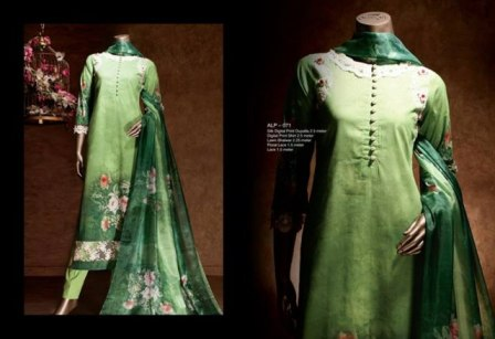 Almirah Latest Summer Lawn Casual Collection 2014